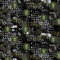 Army Cotton Fabric-Abstract Geo Logo