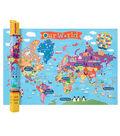 Kid\u0027s Map, World, 24\u0022 x 36\u0022, Pack of 2