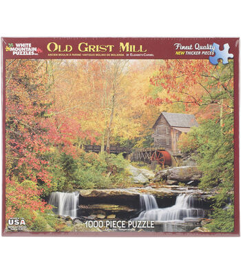 White Mountain Puzzles 1000 Pieces Jigsaw Puzzle-Old Grist Mill