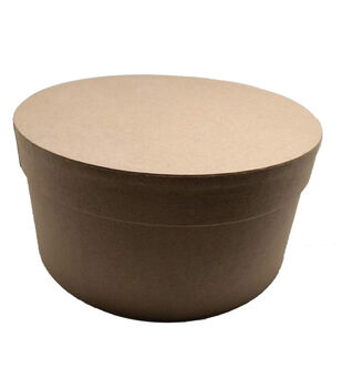Round Photo Storage Box-Kraft