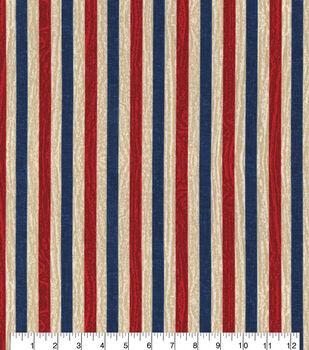 Patriotic Cotton Fabric -Textured Stripe