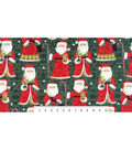 Maker\u0027s Holiday Fleece Fabric 59\u0022-Smiling Santa