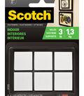 Scotch 12 pk Indoor Square Fasteners-White