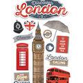Paper House 4.5\u0027\u0027x8.5\u0027\u0027 3D Stickers-Discover London