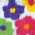 Caron Shaggy Latch Hook Kit Flowers