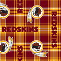 Washington Redskins Fleece Fabric -Plaid