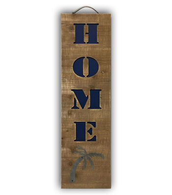 Camp Ann 31.5''x7.8'' Wooden Vertical Wall Decor-Home