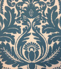 Outdoor Fabric-Vintage Damask Turquoise