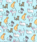 Novelty Cotton Fabric -Sketch Cats