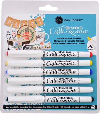 Manuscript Crafter Callicreative 6 pk Decorative Italic Markers-Assorted