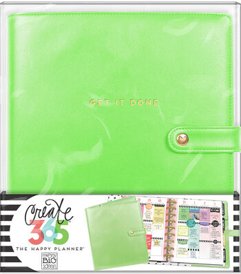 The Happy Planner Classic Deluxe Cover Planner-Spring Green