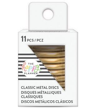 The Happy Planner Classic Medium Metal Discs-Gold