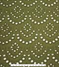 Scallop Cotton Eyelet Fabric-Avocado