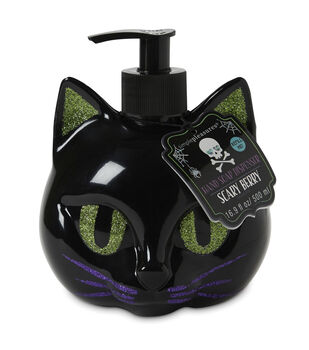 Simple Pleasures Cat Shaped Soap Dispenser with Scary Berry Scented Soap