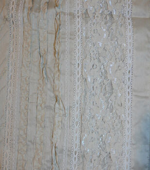 Speciality Cotton Fabric -Gray Lace Eyelet