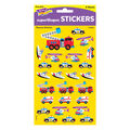 Rescue Vehicles superShapes Stickers-Large 208 Per Pack, 12 Packs