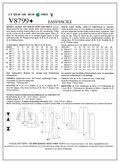 Mccall Pattern V8799 A5 (6-8-10-Vogue Pattern