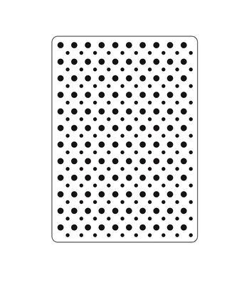 """Embossing Folder 4.25""""X5.75""""-Polka Dot Background"""