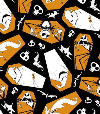 Halloween Cotton Fabric -Jack Zero & Oogie Boogie Toss