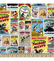Disney Mickey and Friends Posters Cotton Fabric, , hi-res