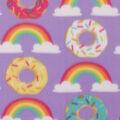 Blizzard Fleece Fabric-Donuts & Rainbows