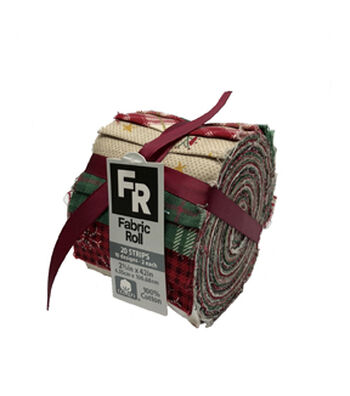 """Jelly Roll Cotton Fabric 2.5""""-Christmas 2"""