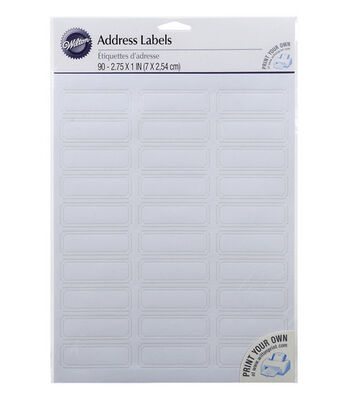 "Wilton 90ct 2.75""x1"" Address Labels-White"