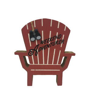 Camp Ann Adirondack Chair Word Block-Weekend Adventurer