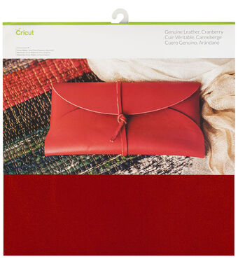 Cricut 12''x12'' Genuine Leather-Cranberry