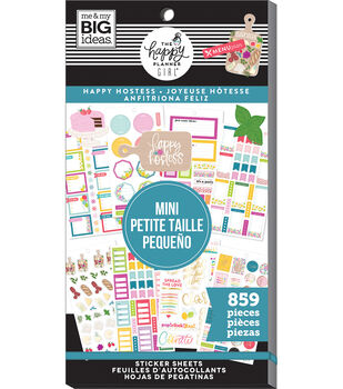 The Happy Planner Girl Mini Sticker Value Pack-Happy Hostess