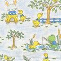 Nursery Cotton Fabric -Driving Bunny