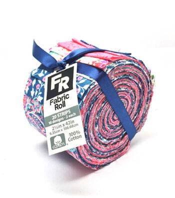 Jelly Roll Cotton Fabric 20 Strips 2.5''-Vintage Paisley