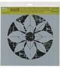 The Crafter\u0027s Workshop Rebekah Meier 12\u0027\u0027x12\u0027\u0027 Stencil-Flower Grid