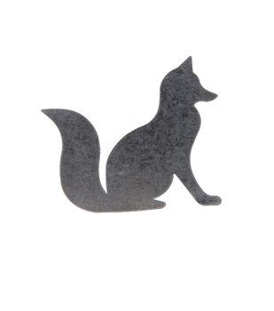Simply Autumn Craft 3.7''x3'' Galvanized Fox Icon