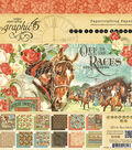 Graphic 45 Double-Sided Paper Pad 8\u0022X8\u0022-Off To The Races