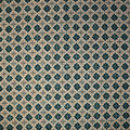 Premium Cotton Print Fabric -Teal & Metallic Packed Diamonds