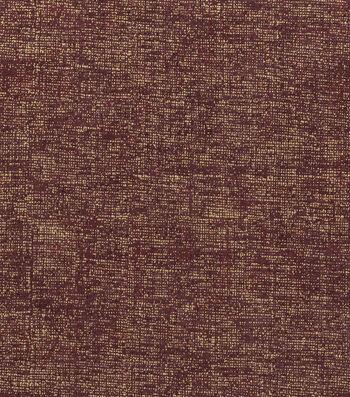"Harvest Cotton Fabric 43""-Burgundy Crosshatch"