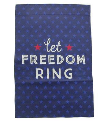 Americana Patriotic 12''x18'' Flag-Let Freedom Ring