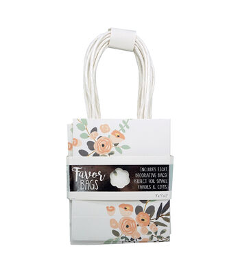 Floral Favor Bags-Set of 8