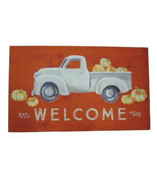 Simply Autumn Rubber Mat-Truck & Welcome