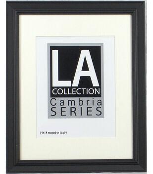 LA Collection Cambria Series Plastic Wall Frame 14''x18''-Black