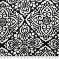Luxe Fleece Fabric -Black & White Tile
