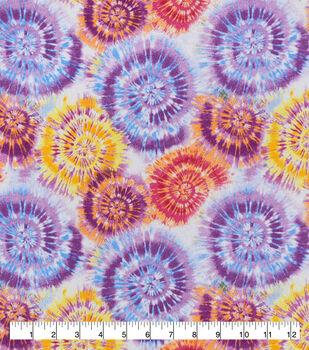 Snuggle Flannel Fabric-Multi Tie Dye