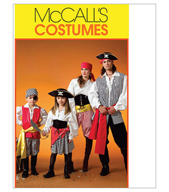McCall's Pattern M4952 Adult & Children's Pirate Costumes