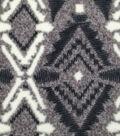 Luxe Fleece Fabric -Black & White Aztec