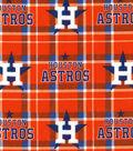 Houston Astros Flannel Fabric 42\u0022-Plaid