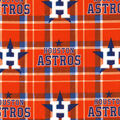 Houston Astros Flannel Fabric-Plaid