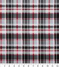 Christmas Cotton Fabric-Black, Red & White Plaid