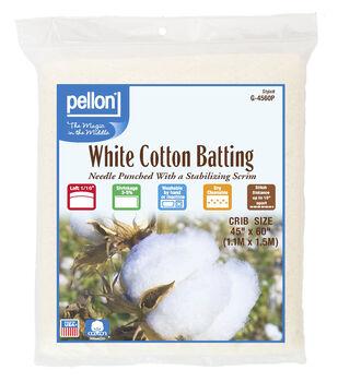 Pellon White Cotton Batting-Crib