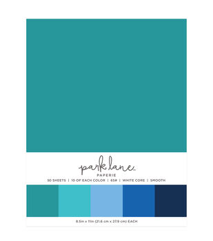 Park Lane 50 pk 8.5''x11'' Value Papers-Teals
